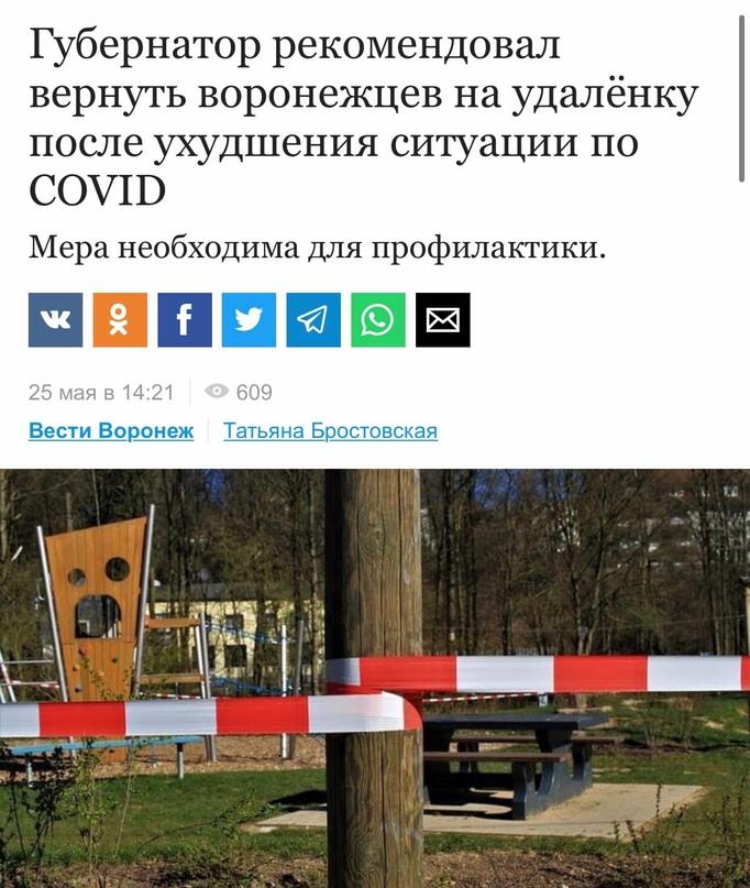 Всех работающих жителей Воронежской области могут вновь отправить на удалёнку из...
