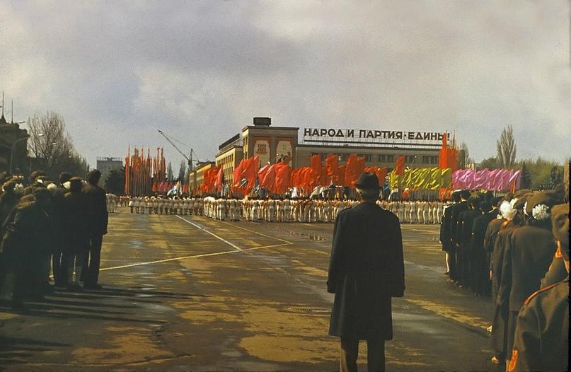 Ставрополь. Архивное фото. 1 мая 1986 года