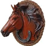 Настенное панно Лошадь и подкова это к счастью