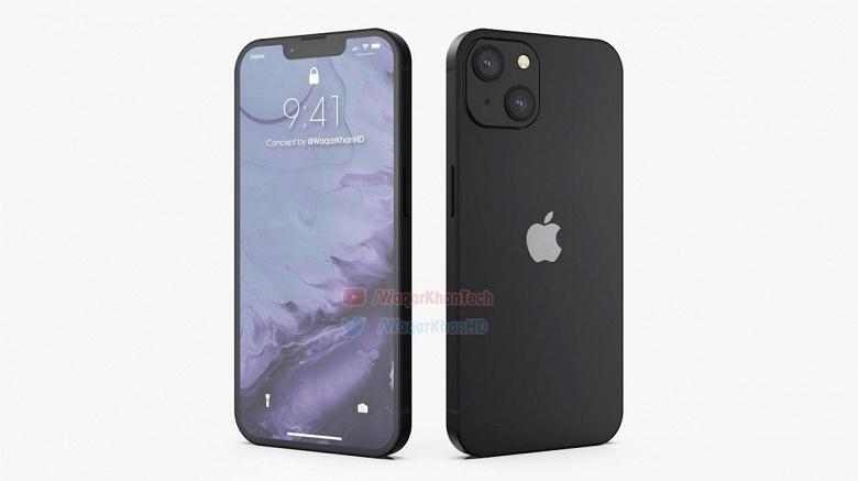 Чёрный iPhone 13 показали с обеих сторон