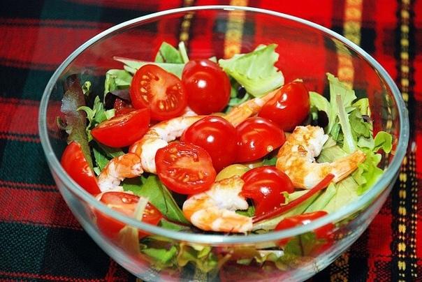 Салат с креветками к праздничному столу
